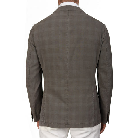 "BOGLIOLI Milano ""Coat"" Gray Cotton Silk Linen Unlined Blazer Jacket 50 NEW US 40"