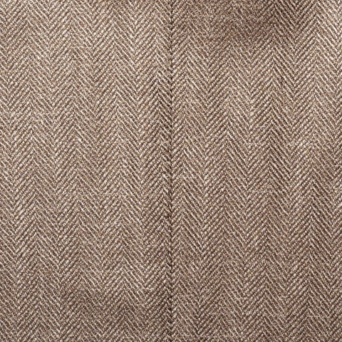 CESARE ATTOLINI for M.BARDELLI Brown Herringbone Wool-Silk-Linen Jacket 50 US 40