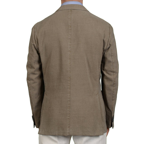 "BOGLIOLI Milano ""K. Jacket"" Taupe Cotton-Silk Unlined Blazer Jacket 52 NEW US 42"