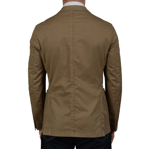 "BOGLIOLI Milano ""Coat"" Khaki Cotton-Linen Unlined Blazer Jacket EU 48 NEW US 38"