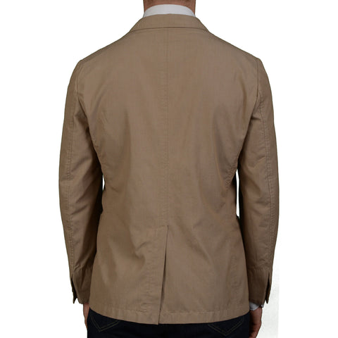 BOGLIOLI Milano Sand Cotton Unlined Blazer Jacket Sports Coat EU 50 NEW US 40