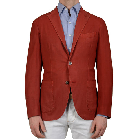 "BOGLIOLI Milano ""K. Jacket"" Red Wool Unlined Blazer Jacket EU 48 NEW US 38"