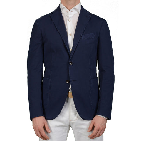 "BOGLIOLI Milano ""MTM"" Navy Blue Cotton Unlined Blazer Jacket Sports Coat NEW"
