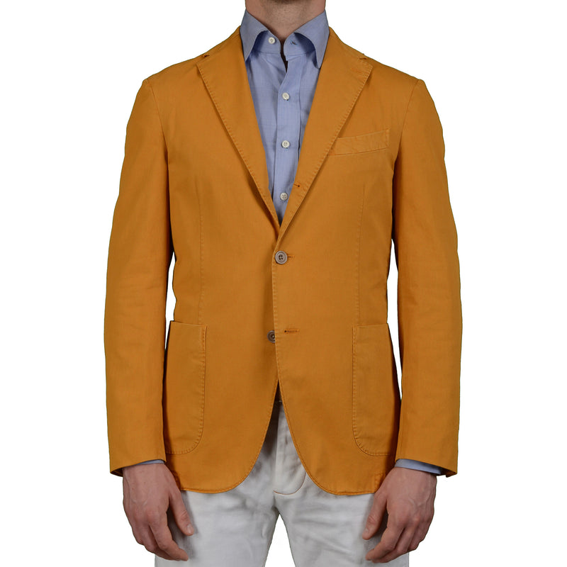"BOGLIOLI Milano ""Coat"" Mustard Cotton Unlined Blazer Jacket Sports Coat NEW"