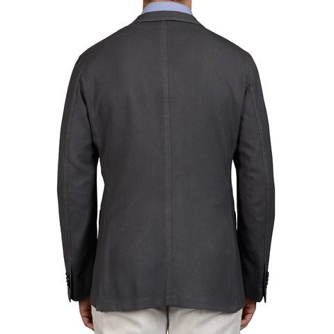 "BOGLIOLI Milano ""K. Jacket"" Gray Wool Unlined Blazer Jacket Sports Coat NEW"