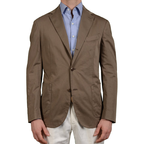 "BOGLIOLI Milano ""Coat"" Khaki Cotton Unlined Blazer Jacket Sports Coat NEW"