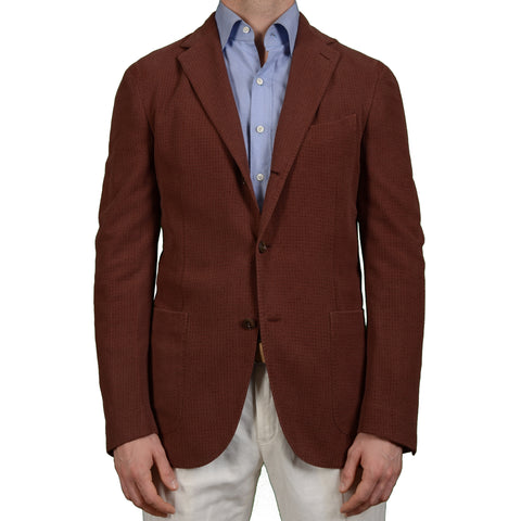 "BOGLIOLI Milano ""Coat"" Crimson Silk-Cotton Unlined Blazer Jacket EU 50 NEW US 40"