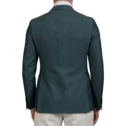 "BOGLIOLI Milano ""York"" Teal Silk Lined Dinner Smoking Jacket EU 48 NEW US 38"