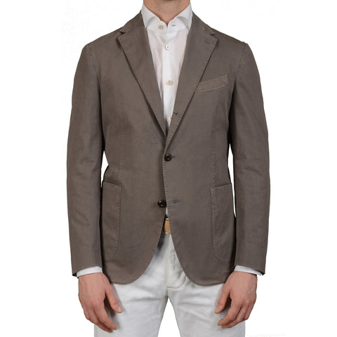"BOGLIOLI Milano ""Coat"" Gray Cotton Unlined Blazer Jacket EU 52 NEW US 42"