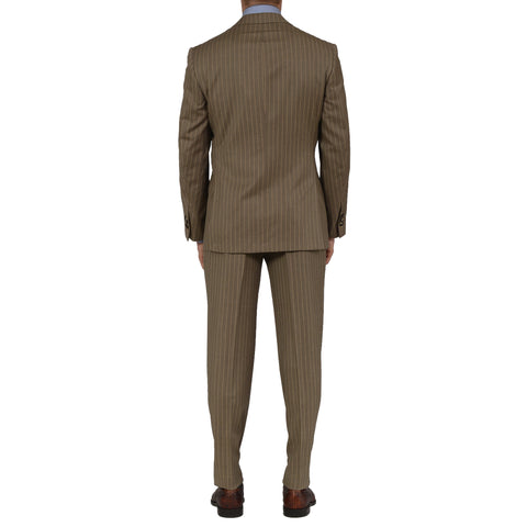 D'AVENZA Roma Handmade Beige Wool Super 100's Suit EU 50 NEW US 40