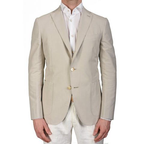 "BOGLIOLI Milano ""Hampton"" Light Gray Cotton Blazer Jacket EU 50 NEW US 40"