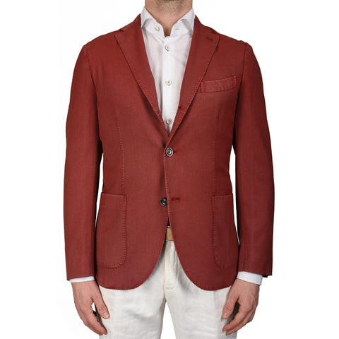"BOGLIOLI Milano ""K. Jacket"" Crimson Wool Unlined Blazer Jacket EU 48 NEW US 38"