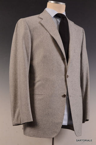 KITON Napoli Hand Made Solid Gray Cashmere Wool Suit EU 50 NEW US 38 40 - SARTORIALE - 1