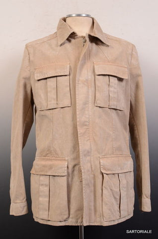 SARTORIO Napoli by KITON Beige Safari Jacket Coat EU 48 NEW US 36 38 - SARTORIALE - 2