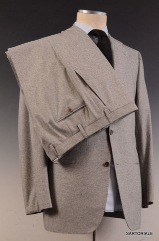 KITON Napoli Hand Made Solid Gray Cashmere Wool Suit EU 50 NEW US 38 40 - SARTORIALE - 7