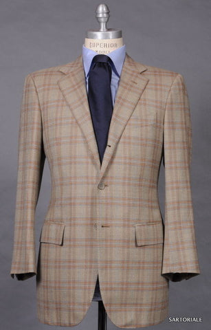 LUCIANO BARBERA SARTORIALE Beige Plaid Wool Jacket EU 50 NEW US 38 40 - SARTORIALE - 1
