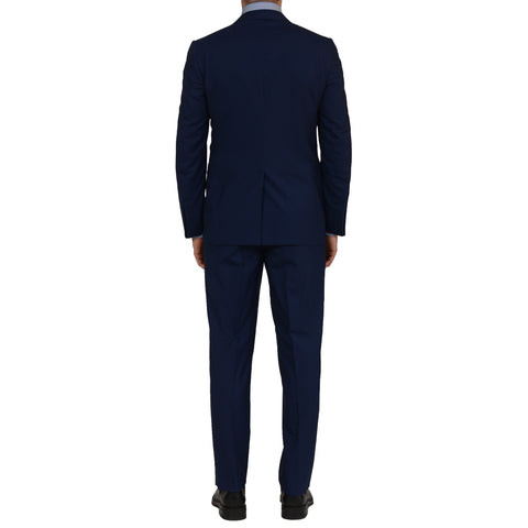 D'AVENZA Handmade Navy Blue Wool Silk Suit EU 50 NEW US 40 Slim Fit