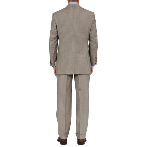 D'AVENZA Roma Handmade Gray Wool Super 120's DB Suit EU 50 NEW US 40
