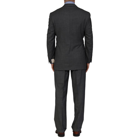 "D'AVENZA Roma ""Ragusa"" Handmade Gray Wool DB Suit EU 50 NEW US 40"