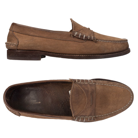SPERRY Brown Leather Slip-On Shoes Loafers US 11