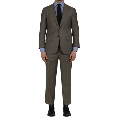 D'AVENZA Handmade Gray Wool Business Suit EU 48 NEW US 38