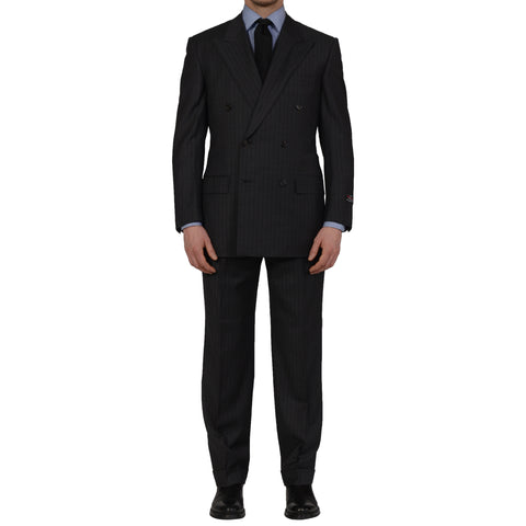 D'AVENZA Roma Handmade Gray Wool Super 130's DB Suit EU 50 NEW US 40