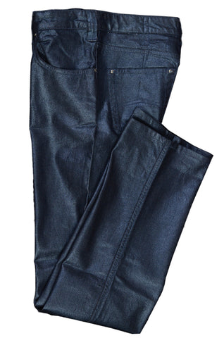 AJ ARMANI JEANS Blue Cotton Stretch Jeans Pants NEW US 29