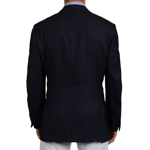 AMIR Handmade Navy Blue Cashmere-Silk Blazer Jacket EU 51 NEW US 41 40