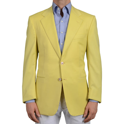 AMIR Handmade Yellow Wool Super 120's Jacket Sports Coat EU 50 NEW US 40