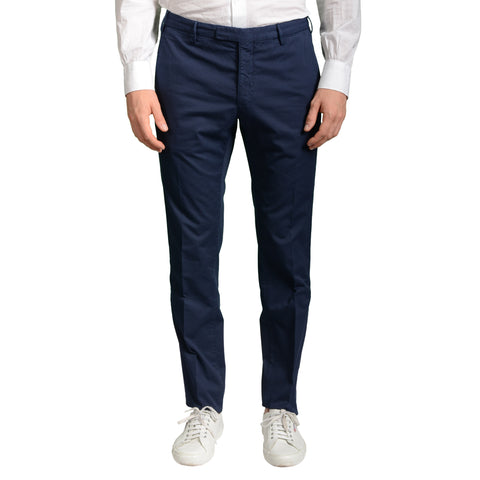 "ARTHUR & FOX by BOGLIOLI ""Wear"" Blue Cotton Twill Slim Fit Pants EU 50 NEW US 34"