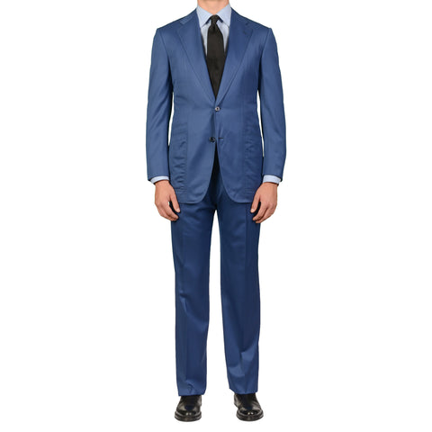 AVI ROSSINI Handmade Blue Wool Super 150's Suit EU 50 NEW US 40