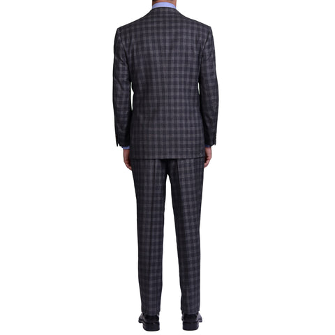 AVI ROSSINI Handmade Gray Super 120's Flannel Suit Luxury EU 52 NEW US 42