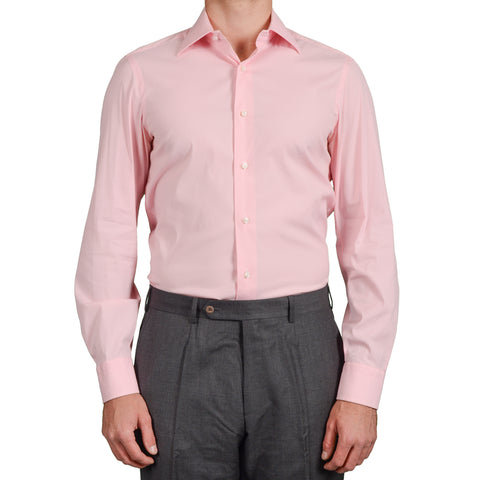 BARBA Napoli Hand Made Pink Cotton Blend Dress Shirt EU 40 US 15.75