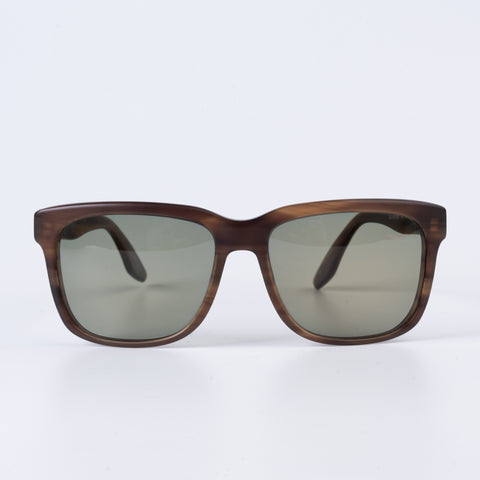 "BARTON PERREIRA ""Zeak"" Brown Matte Square Polarized Sunglasses NEW with Case"