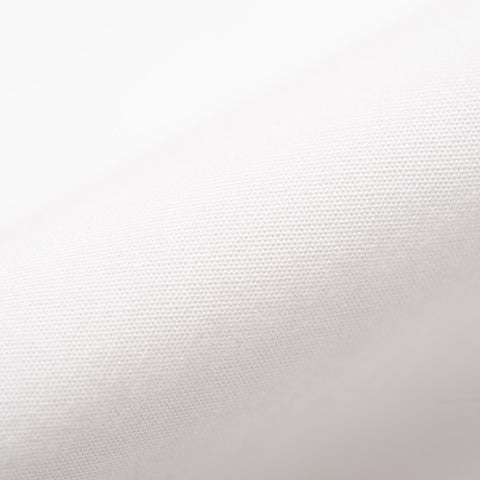BEAMS PLUS Japan Solid White Poplin Cotton Button-Down Shirt US L Slim