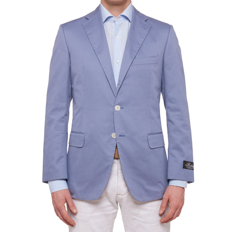 BELVEST Handmade Blue Twill Cotton Jacket Sports Coat EU 50 NEW US 40