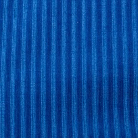 BELVEST Handmade Blue Striped Corduroy Cotton Peak Lapel Tuxedo Suit 50 NEW 40