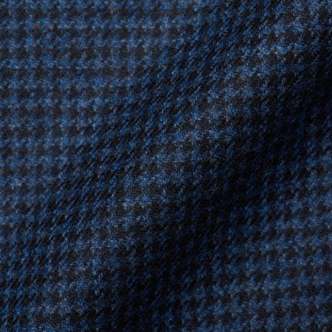 BELVEST JACKETINTHEBOX Navy Blue Houndstooth Wool-Cashmere Jacket 58 NEW 48
