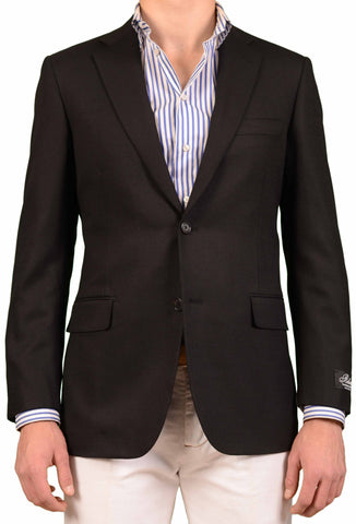 BELVEST Hand Made In Italy Black Wool Blazer Jacket Sport Coat NEW Regular