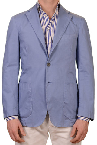 BELVEST Hand Made Blue Cotton Blazer Jacket Sports Coat NEW Garment Dyed