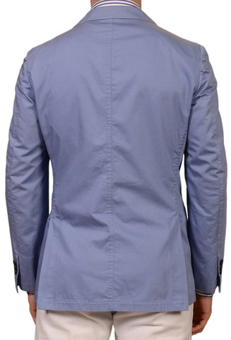 BELVEST Hand Made Blue Garment Dyed Cotton Jacket Sports Coat EU 50 NEW US 40