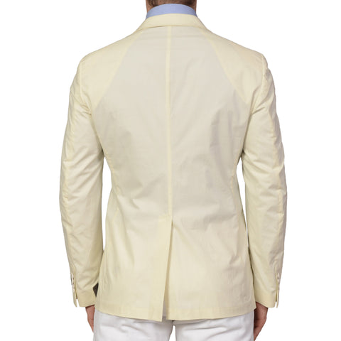 BELVEST Hand Made Cream Cotton Blazer Jacket EU 50 NEW US 40 Slim Fit