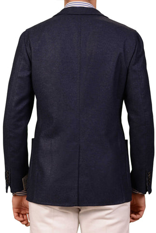 BELVEST Hand Made Navy Blue Wool Unconstructed Blazer Jacket EU 48 NEW US 38