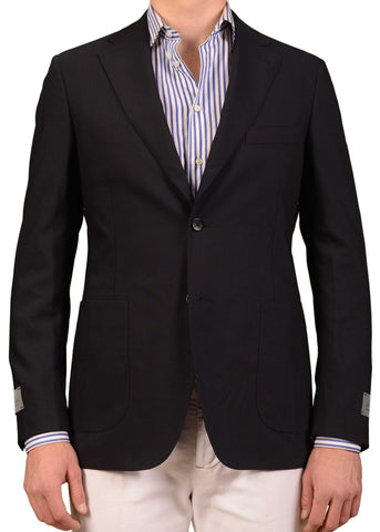 BELVEST Hand Made Navy Blue Wool Unlined Blazer Jacket EU 50 NEW US 40