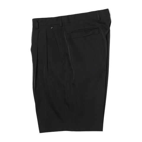 BERLUTI Paris Black Wool Double Pleated Shorts EU 50 NEW US 34