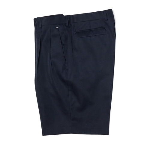 BERLUTI Paris Navy Blue Wool Double Pleated Shorts EU 50 NEW US 34