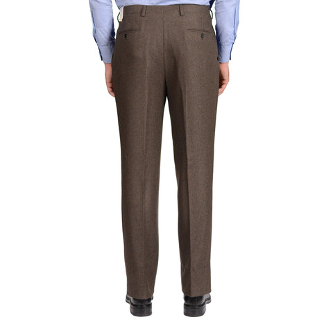 BIJAN Beverly Hills Brown Cashmere DP Dress Pants EU 52 NEW US 36 Luxury