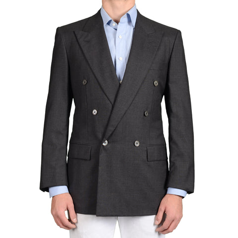 BIJAN Beverly Hills Handmade Gray Cashmere DB Blazer Jacket NEW Luxury