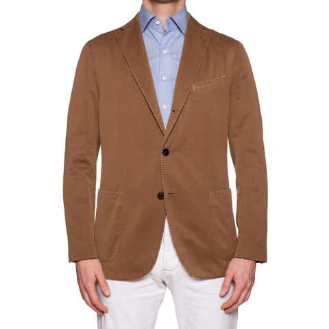 "BOGLIOLI Milano ""K. Jacket"" Brown Herringbone Cotton Unlined Jacket 52 NEW US 42"