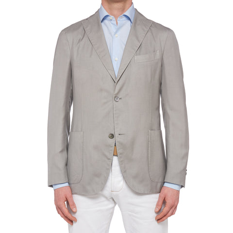 "BOGLIOLI Milano ""K.Jacket"" Light Gray Cashmere-Silk Unlined Jacket 50 NEW US 40"